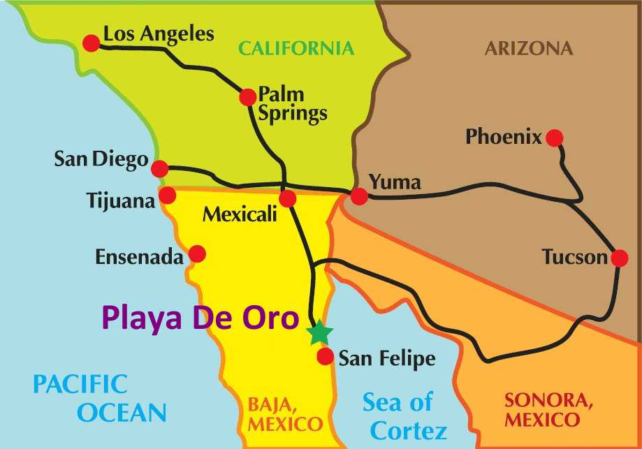 Mexico Real Estate Maps On How To Get Here 2 Hour Drive From Usa